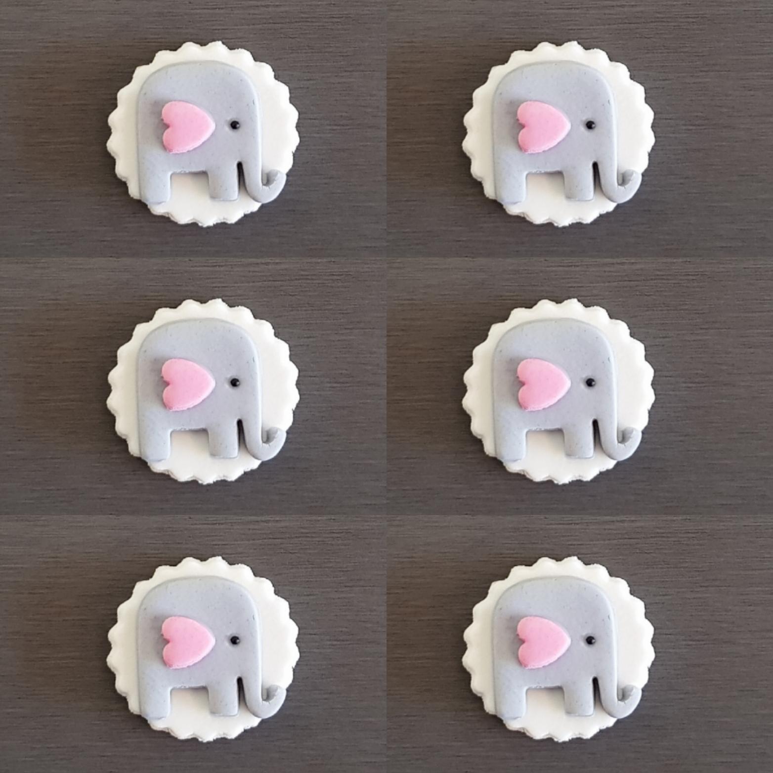 Edible 3D Fox Animals Cupcake Toppers Edible Sugar Cake Decoration