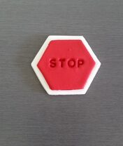 Stop Sign cake and cupcake decorations / toppers