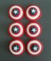 Captain America Cupcake Decorations