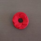 Poppy Flower Cupcake topper
