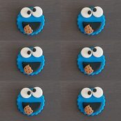 Cookie Monster Cake Decorations