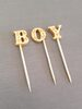 Boy cake picks