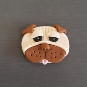 Pug Cupcake toppers