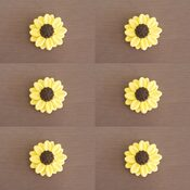 Sunflower cake toppers