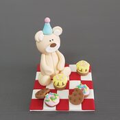 Teddy Bear Picnic Cake decorations